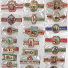 Vitolas de colección: LOTE 1, 25 SERIES COMPLETAS Y DIFERENTES VITOLAS PROCEDENTES DE LOS PUROS DE HOLANDA, BELGICA Y ESPA. Lote 182841771