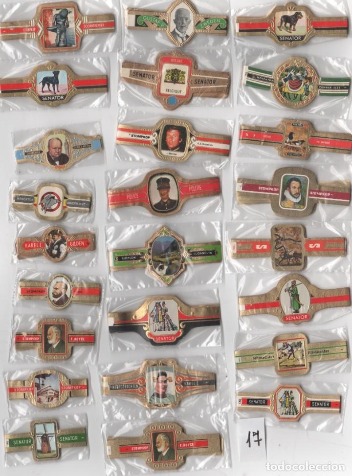 OFERTON,LOTE 17, 25 SERIES COMPLETAS Y DIFERENTES DE VITOLAS PROCEDENTES DE LOS PUROS Y COLECCIONES (Coleccionismo - Objetos para Fumar - Vitolas)
