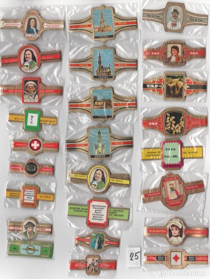 OFERTON,LOTE 25, 25 SERIES COMPLETAS Y DIFERENTES DE VITOLAS PROCEDENTES DE LOS PUROS Y COLECCIONES (Coleccionismo - Objetos para Fumar - Vitolas)