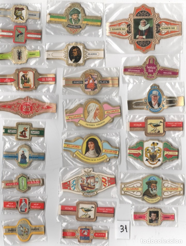 OFERTON,LOTE 31, 25 SERIES COMPLETAS Y DIFERENTES DE VITOLAS PROCEDENTES DE LOS PUROS Y COLECCIONES (Coleccionismo - Objetos para Fumar - Vitolas)