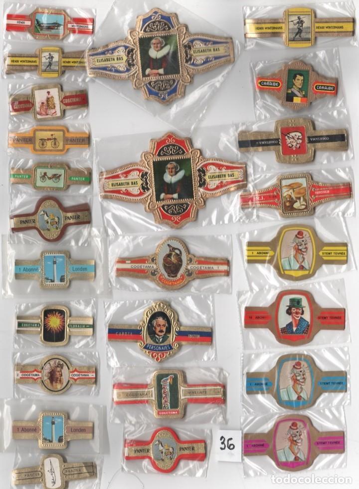 OFERTON,LOTE 36, 25 SERIES COMPLETAS Y DIFERENTES DE VITOLAS PROCEDENTES DE LOS PUROS Y COLECCIONES (Coleccionismo - Objetos para Fumar - Vitolas)