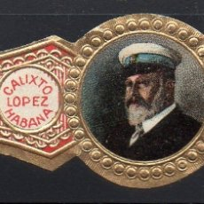 Vitolas de colección: VITOLA CLASICA: 013008, CASA REAL INGLESA, EDUARDO VII, CALIXTO LOPEZ, CUBA.. Lote 183062393
