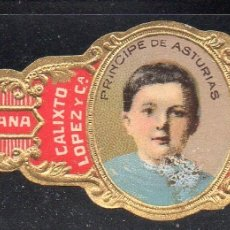 Vitolas de colección: VITOLA CLASICA: 015019, CASA REAL ESPAÑOLA, PRINCIPE DE ASTURIAS, CALIXTO LOPEZ, CUBA. Lote 183234423