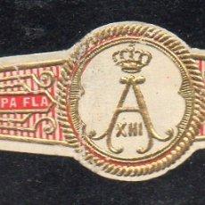 Vitolas de colección: VITOLA CLASICA: 015021, CASA REAL ESPAÑOLA, ANAGRAMA DE ALFONSO XIII, CUESTA REY. Lote 183234457