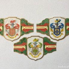 Vitolas de colección: TRES VITOLAS DE PUROS SERIE HERALDICA. Lote 183993692