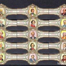 Vitolas de colección: VICTOR HUGO, COMPOSITORES, SERIE M, 15 VITOLAS, SERIE COMPLETA.. Lote 184001668