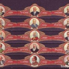 Vitolas de colección: VICTOR HUGO, COMPOSITORES, SERIE R, 15 VITOLAS, SERIE COMPLETA.. Lote 184001701