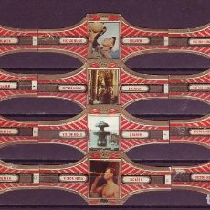 Vitolas de colección: VICTOR HUGO, ITALIA, ROJO, 12 VITOLAS, SERIE COMPLETA.. Lote 184001760
