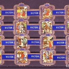Vitolas de colección: VICTOR HUGO, LA CASITA DE CHOCOLATE, AZUL, 16 VITOLAS, SERIE COMPLETA.. Lote 184001797