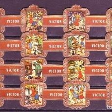 Vitolas de colección: VICTOR HUGO, LA CASITA DE CHOCOLATE, MARRON, 16 VITOLAS, SERIE COMPLETA.. Lote 184001902