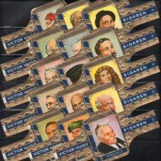 Vitolas de colección: VICTOR HUGO, LITERATOS, SERIE B, GRAN FORMATO, 15 VITOLINAS, SERIE COMPLETA.. Lote 184001938