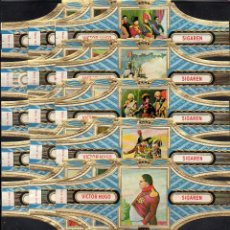 Vitolas de colección: VICTOR HUGO, NAPOLEON, SERIE 12, GRAN FORMATO, 15 VITOLINAS, SERIE COMPLETA.. Lote 184002050