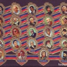 Vitolas de colección: TABACOS CAPOTE, PERSONAJES, SERIE B, 24 VITOLAS, SERIE COMPLETA.. Lote 184003113