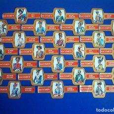 Vitolas de colección: REINE ELISABETH, UNIFORMES MILITARES, 24 VITOLAS, SERIE COMPLETA.. Lote 184007662