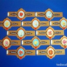 Vitolas de colección: HUDSON, ROSAS, NEGRO, 12 VITOLAS, SERIE COMPLETA.. Lote 184007696