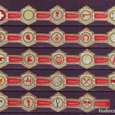 Vitolas de colección: PRINCEPS, INSIGNIAS, 24 VITOLAS, SERIE COMPLETA.. Lote 184007815