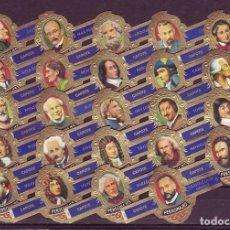 Vitolas de colección: TABACOS CAPOTE, PERSONAJES, SERIE H, 24 VITOLAS, SERIE COMPLETA.. Lote 184094477