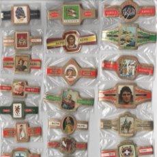Vitolas de colección: OFERTON,LOTE 11, 25 SERIES COMPLETAS Y DIFERENTES DE VITOLAS PROCEDENTES DE LOS PUROS Y COLECCIONES. Lote 184096991