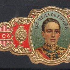 Vitolas de colección: VITOLA CLASICA: 031008, CASA REAL ESPAÑOLA, ALFONSO XIII, CALIXTO LOPEZ, CUBA. Lote 184421278