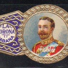 Vitolas de colección: VITOLA CLASICA: 043018, CASA REAL INGLESA, JORGE V, LA CORONA, CUBA, GRANDE.. Lote 184753806