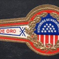 Vitolas de colección: VITOLA CLASICA: 014005, ESCUDOS U.S.A. VICTORIAS DE WASHINGTON, LA HOJA DE ORO. Lote 186631341