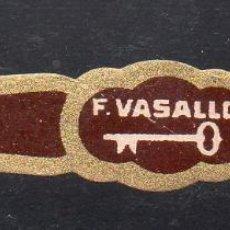 Vitolas de colección: VITOLA CLASICA: 014006, TEMA LLAVES, F. VASALLO, LA SALUD, CUBA. Lote 186632151