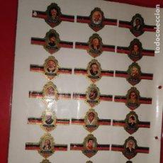 Vitolas de colección: TABACOS CAPOTE, PERSONAJES, SERIE B, 24 VITOLAS, SERIE COMPLETA.. Lote 189318057