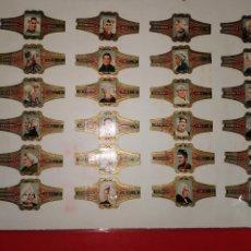 Vitolas de colección: 48 VITOLAS HOOFDDRACHTEN COUVRE-CHEFS KARELI. Lote 189342960