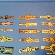 Vitolas de colección: LOTE 15 VITOLAS TABACO PUROS HABANA DIFERENTES VARIOS PAISES ALEMANIA. Lote 189377290