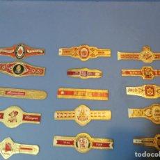 Vitolas de colección: LOTE 15 VITOLAS TABACO PUROS HABANA DIFERENTES VARIOS PAISES ALEMANIA. Lote 189377348