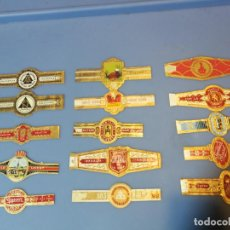 Vitolas de colección: LOTE 15 VITOLAS TABACO PUROS HABANA DIFERENTES VARIOS PAISES ALEMANIA. Lote 189377723