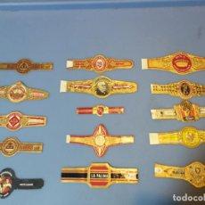 Vitolas de colección: LOTE 15 VITOLAS TABACO PUROS HABANA DIFERENTES VARIOS PAISES ALEMANIA. Lote 189377742