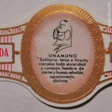 Vitolas de colección: LOTE 5 VITOLAS DEDICADAS A UNAMUNO. Lote 189388655