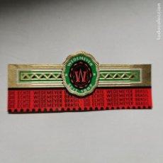 Vitolas de colección: VITOLA DIE WEDEMEYER BRASIL. Lote 189391151