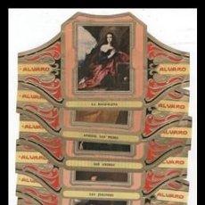 Vitolas de colección: ALVARO, CUADROS DE PINTORES ESPAÑOLES, RIBERA, SERIE COMPLETA 12 VITOLAS GRANDES.. Lote 189651253