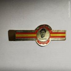 Vitolas de colección: VITOLA JUGADOR DEL REAL MADRID VICENTE AÑO 1977. Lote 189696651