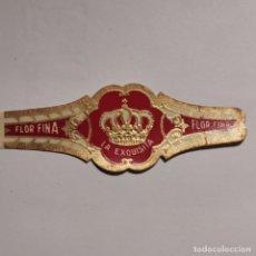 Vitolas de colección: VITOLA FLOR FINA LA EXQUISITA.. Lote 189701343