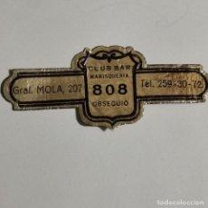 Vitolas de colección: VITOLA CLUB BAR MARISQUERIA 808 OBSEQUIO. Lote 189703337
