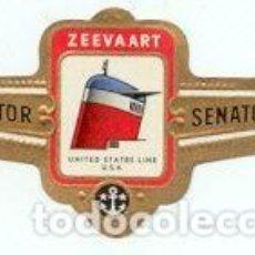 Vitolas de colección: VITOLAS SENATOR, CHIMENEAS NAVALES, 100 VITOLAS, SERIE COMPLETA.. Lote 190104570