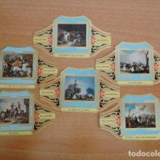 Vitolas de colección: TABACOS ALVARO. 6 VITOLAS CUADROS PINTORES ESPAÑOLES. GOYA. SERIE II. Lote 190863291