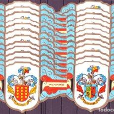 Vitolas de colección: ALVARO, HERALDICA, SERIE I, GRAN FORMATO, 24 VITOLINAS, SERIE COMPLETA.. Lote 191068506