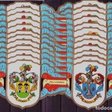 Vitolas de colección: ALVARO, HERALDICA, SERIE II, GRAN FORMATO, 24 VITOLINAS, SERIE COMPLETA.. Lote 191068520