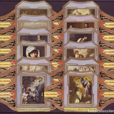 Vitolas de colección: ALVARO, MURILLO, SERIE 2ª, 12 VITOLINAS, SERIE COMPLETA.. Lote 191485408