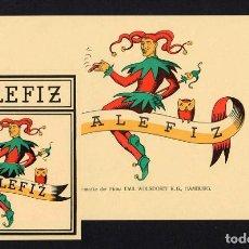 Vitolas de colección: VITOLAS, LITOGRAFÍAS. LOTE DE VISTA Y PAPELETA. MALEFIZ (JOCKER). Lote 191635513