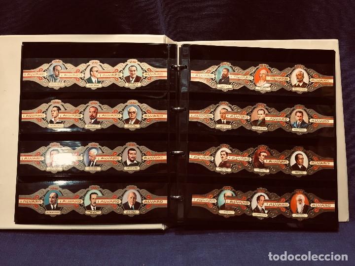 VITOLAS ALVARO PINTORES ESCRITORES CEE CCAA MUNDIAL FUTBOL 1982 TOTAL 335 ALBUM TOGALL 27X25CMS (Coleccionismo - Objetos para Fumar - Vitolas)