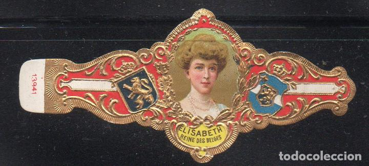 VITOLA CLASICA: 161017, CASA REAL BELGA, REINA ISABEL DE BELGICA, TALON 13941 (Coleccionismo - Objetos para Fumar - Vitolas)