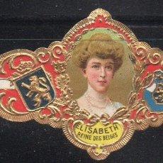 Vitolas de colección: VITOLA CLASICA: 161017, CASA REAL BELGA, REINA ISABEL DE BELGICA, TALON 13941. Lote 194197365