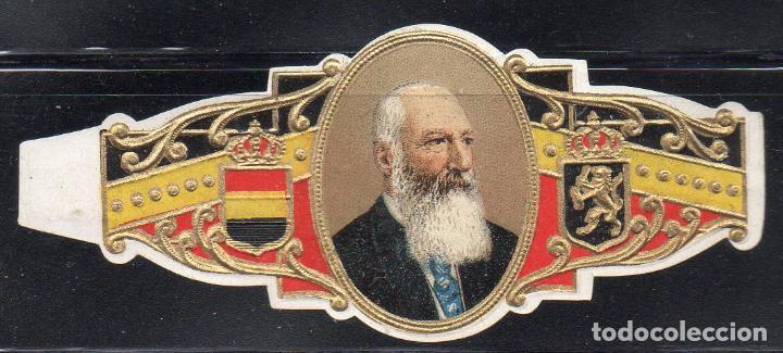 VITOLA CLASICA: 161018, CASA REAL BELGA, REY LEOPOLDO II DE BELGICA (Coleccionismo - Objetos para Fumar - Vitolas)