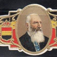 Vitolas de colección: VITOLA CLASICA: 161018, CASA REAL BELGA, REY LEOPOLDO II DE BELGICA. Lote 194197423