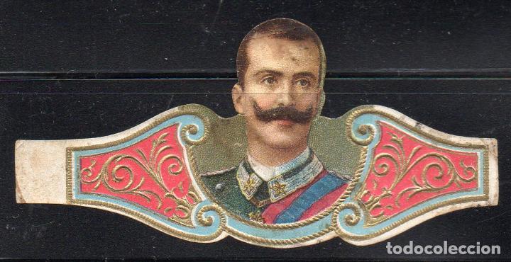 VITOLA CLASICA: 161023, CASAS REALES, REY VICTOR MANUEL DE ITALIA (Coleccionismo - Objetos para Fumar - Vitolas)